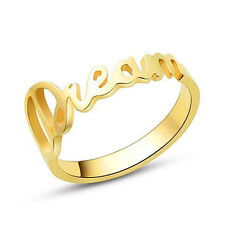Personalized 18K Gold Plated Sterling Silver Name Ring Personalized Women ring