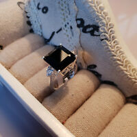Beautiful Boi Ploi Black Spinel & Topaz ring in Sterling silver