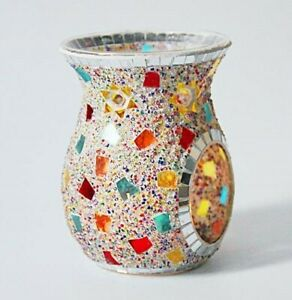 Handmade Glass Mosaic Oil Burner/Wax Warmer - Multichip