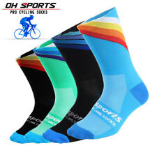 Mens Professional Bicycle Cycling Riding Socks Sports Bike Castelli Breathable