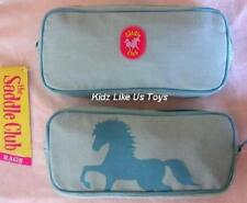 ~ Saddle Club - HORSE BLUE MAKE UP COSMETIC BAG PENCIL CASE PHONE GEAR