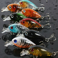 Fishing Lures Baits Vivid Crankbaits Hooks Minnow Baits Tackle 4.5cm/4g _IJJH
