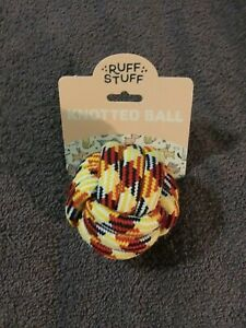 Ruff Stuff Multicolored Knotted Ball Dog Toy - NEW