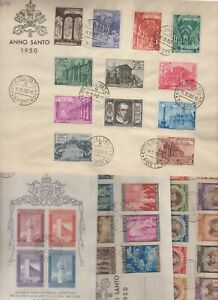 s37917 VATICANO Collezione di FDC dal 1950 al 1993 - 12 scans