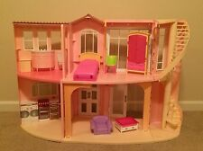 Barbie Doll 3-Story Dream House Dollhouse Sounds Furniture Movable Stairs Mattel