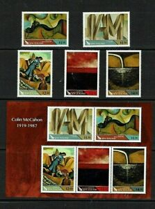 New Zealand: 2019, Colin McCahon, 1919-1987 (artist)  MNH set + M/Sheet