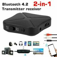 2in1 Bluetooth Transmitter &Receiver Wireless Home Adapter TV Music d Audio I5E8