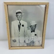 Vintage Zoot Suit B/W Photograph Of Two Men 1940's Framed