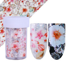 1 Roll Holo Starry Nail Foil Nail Art Transfer Stencil Stickers Flower Decor Tip
