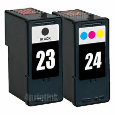 2 Pack 23 24 Black/Color Ink Fits Lexmark Z1410 Z1420 X3530 X3550 X4530 X4550