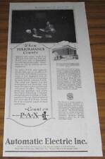 1926 AD~PAX~PRIVATE AUTOMATIC EXCHANGE~TELEPHONE