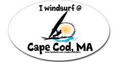 """I  Windsurf @   Cape Cod, MA    Bumper/Window Sticker  OVAL 3"""" X 5"""""""