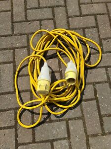110V 32A amp 14m Extension Lead Cable - Yellow