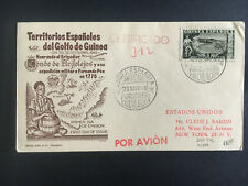 1949 Spanish Guinea First Day Cover to Usa Certified