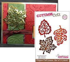 Filigree Fall Leaves metal Die Cut - Cottage Cutz cutting dies 3 leaf set