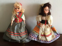 Gorgeous Pair Of Vintage Celluloid Dolls, Denmark