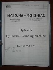 Myford MG12-HA or MG12-HAC Operator's Manual