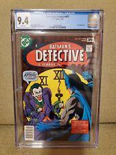 CGC 9.4 Detective Comics #475, Classic Joker Fish Cover, DC Comics 02/78