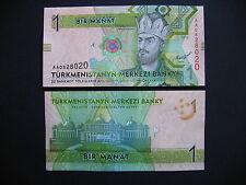 TURKMENISTAN  1 Manat 2012  (P29)  UNC