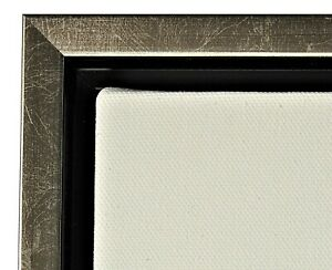 """Silver Floater Frame for 3/4"""" deep Canvas"""