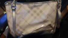 Burberry Gold Check Tote.. clutch included!!