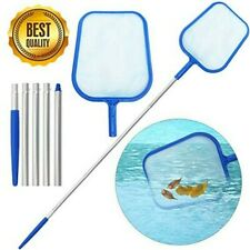 Swimming Pool Net Leaf Rake Mesh Skimmer w/Telescopic Pole Pools Spas Cleaner Us