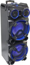 """IBIZA STANDUPDJ-MKII MOBILE BESCHALLUNGSANLAGE 2x12"""" Lautsprecher Bluetooth Akku"""