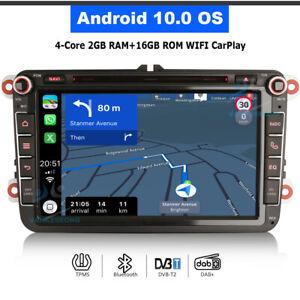 "8"" Android 10.0 GPS Bluetooth DAB Autoradio für VW Touran Tiguan Sharan Golf MK6"