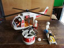 Vintage Playmobil Helicopter rescue playset 3789 set people accessories, 1974