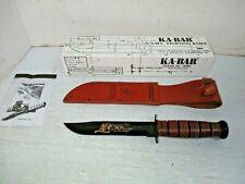 KA-BAR U.S.M.C. Fighting Knife Fixed Blade  - KOREAN WAR 50th Anniversary/Sheath