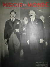 ROI ROUMANIE Pdt LEBRUN INDE NASIK MENDIANTS CINEMA ITALIEN MIROIR DU MONDE 1936