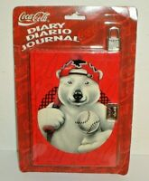 Vintage 1996 Coca-Cola Soda Diary / Journal w/ Lock (New & Factory Sealed) Coke