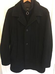 BOSS Mens Cashmere Wool Overcoat