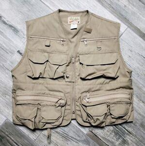 Cabela's Fishing Vest Hunting Photography NWOT Men's Medium Khaki 26 Pockets