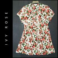 Ivy Rose Women Career Formal Floral Semi Sheer Blouse Size 1X Nwot