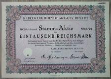 Aktie, Kabelwerke Rheydt AKT.- GES, Rheydt 1941,                      (Art.3190)