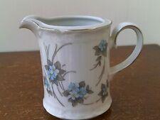 Vintage (1980's) Mitterteich A.G. (Blue Floral Design) Fine bone China Milk Jug