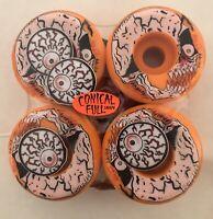 spitfire wheels formula four 52mm 99a Neckface Graphic Orange