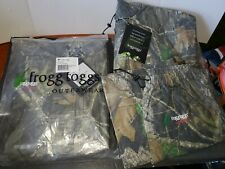 2 Frogg Toggs Camo Outerwear Hunting All Sports Waterproof Rain Suits Mossy Oak