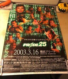 Pride Fc 25 Poster B3 Japanese Version - Pride Fc SEG Era MMA Fedor Rampage Saku