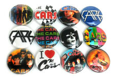 "12 THE CARS - ONE Inch Buttons 1"" Pinbacks Pins - 1980s New Wave Rock Pop Badges"