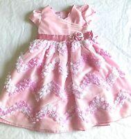 Jessica Ann Girls Dress Pink White Full Skirt Size 6
