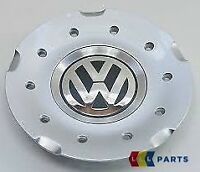 "NEW GENUINE VW GOLF MK5 17"" ALLOY WHEEL CENTRE CAP CHROME BLACK 1K0601149C RGM"