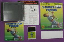 Davis Cup Tennis (TurboGrafx-16, 1993) w/ box, case and manual