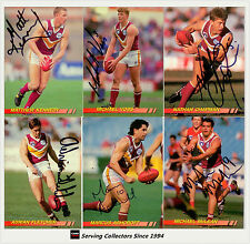 1994 Select AFL Personally Autographed Trading cards Team Set Brisbane (10 + 1)
