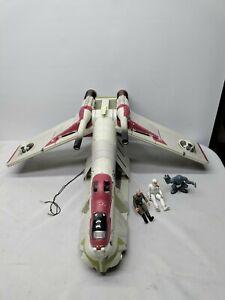 Star Wars Hasbro 2002 Republic Gunship Clone Wars Lucky Lekku Incomplete