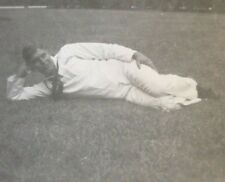 Vintage 1930's/1940's Photo - Navy Sailor Posing on Grass Laying Down