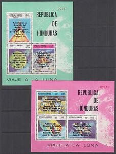 Honduras Mi Bl 17, 18 MNH. 1970  Apollo XIII Astronauts, Souvenir Sheets cplt VF