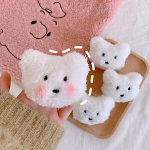 Korean Lovely Women Rabbit Couple White Man Pins Brooches Blush Plush Toy