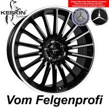 """19"""" ET30 Alu Felgen (4x) Keskin KT15 Black Polish Mercedes S-Klasse 220 W220"""